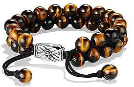 David Yurman Men's Spiritual Beads Two-Row Tiger's Eye Bracelet