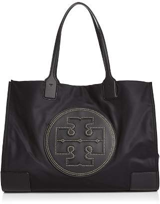 Tory Burch Ella Large Studded Nylon & Leather Tote