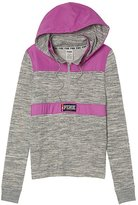 Victoria's Secret Pink Perfect Fleece Anorak Lined Half Zip Hoodie NWT
