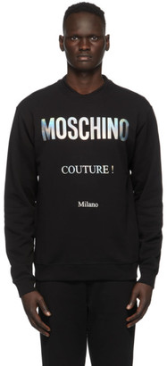 Moschino Black and Silver Couture Sweatshirt