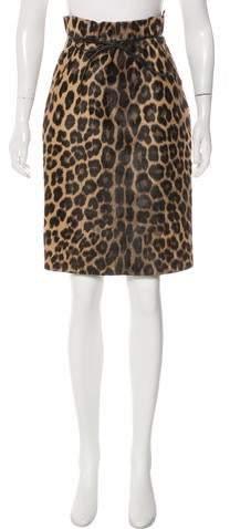 Ponkyhair Leopard-Print Skirt
