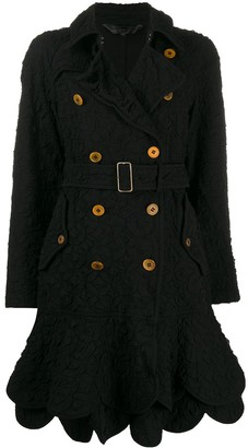 Comme Des Garçons Pre Owned 2000s Quilted Double-Breasted Coat