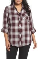 Foxcroft Plus Size Women's Addison Plaid Cotton Shirt