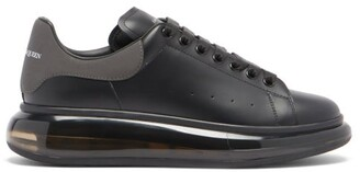 Alexander McQueen Exaggerated-sole Leather Trainers - Black