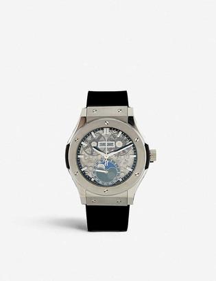 Hublot 517.NX.0170.RX Classic Fusion Aerofusion titanium and rubber watch