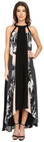 Adelyn Rae Mix Media Swing Maxi Dress