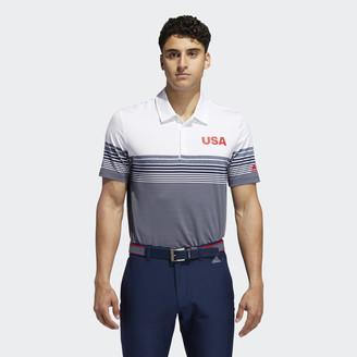 adidas USA Golf Ultimate365 Stripe Polo Shirt