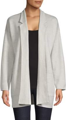 Eileen Fisher Notch Collar Open-Front Cardigan