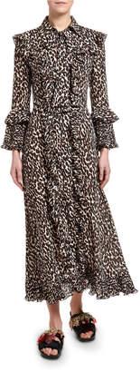Double J Animal-Print Long Fancy Dress