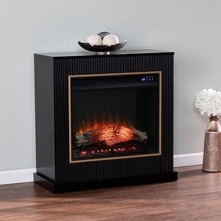 Harper Blvd Camarosa Contemporary Black Wood Electric Fireplace