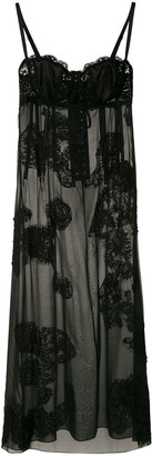 Dolce & Gabbana Sheer Lace Panelled Slip Dress