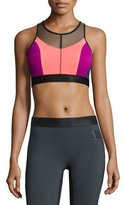 Monreal London Hi-Energy Colorblock Sports Bra, Siren