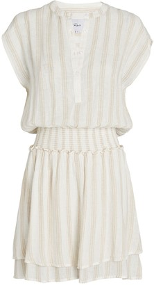 Rails Angelina Smocked Stripe Mini Dress