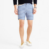 "J.Crew 7"" short in indigo-striped Irish linen"