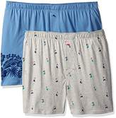 Tommy Bahama Men's 2 Pack Hula Girls and Floral Border Knit Boxer Set