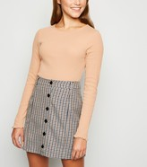 New Look JDY Check Button Front Skirt