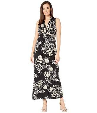 Vince Camuto Sleeveless Floral Getaway Halter Maxi Dress