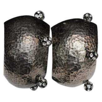 Jean Patou Silver Metal Earrings
