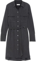 Equipment Delany Washed-silk Shirt Dress - Black