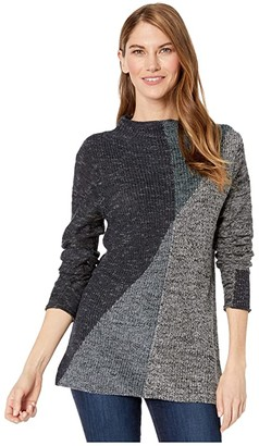 Nic+Zoe Petite Chilled Angle Sweater (Multi) Women's Sweater