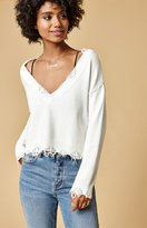 Honey Punch Destructed V-Neck Pullover Sweater