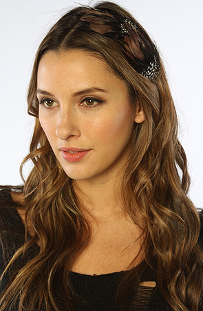 *Accessories Boutique The Mixed Feather Headband in Black & Brown