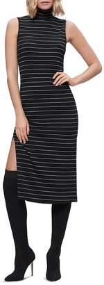 Paige Danisha Striped Midi Turtleneck Dress