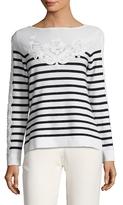 Carolina Herrera Cotton Striped Boatneck Sweater