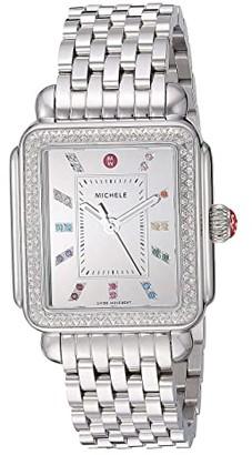Michele Deco Diamond Carousel Dial (Silver) Watches