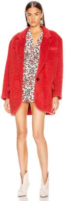 Isabel Marant Nady Jacket in Poppy Red | FWRD