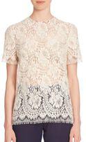 Victoria Beckham Floral Lace Top