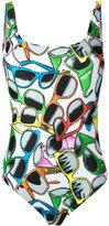 Moschino sunglasses print swimsuit - women - Polyester/Spandex/Elastane - 2