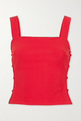MARCIA Taxi Girl Cropped Cutout Stretch-jersey Top - Red