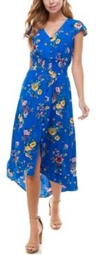 BeBop Juniors' Floral-Print High-Low Dress