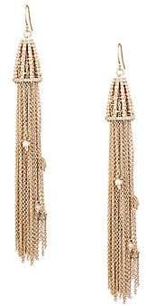 Alexis Bittar Women's 10K Yellow Gold & Crystal Chain Tassel Drop Earrings