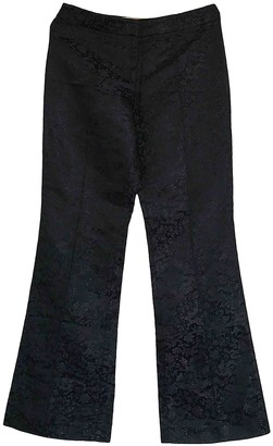 Philosophy di Alberta Ferretti Black Silk Trousers for Women