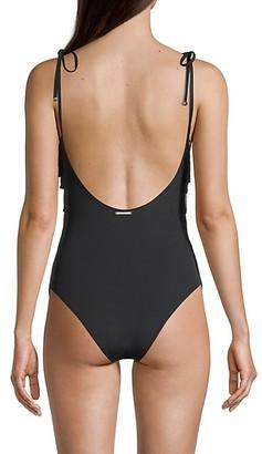 Stella McCartney Swim Fringe Front One-Piece Swimsuit