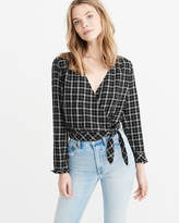 Abercrombie & Fitch Wrap Plaid Shirt