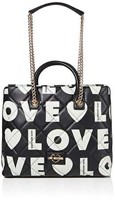 Love Moschino Borsa Matt Nappa Pu, Women's Top-Handle Bag,19x29x6 cm (W x H L)