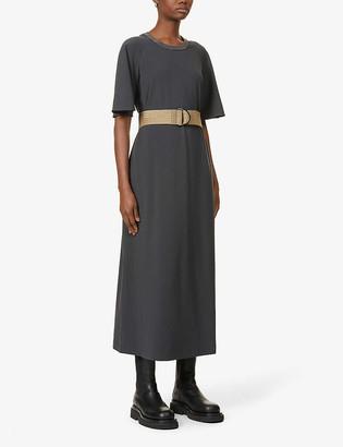 Brunello Cucinelli Embellished stretch-cotton midi dress