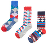 Happy Socks Argyle, Geometric and Diamond Socks (3 PK)