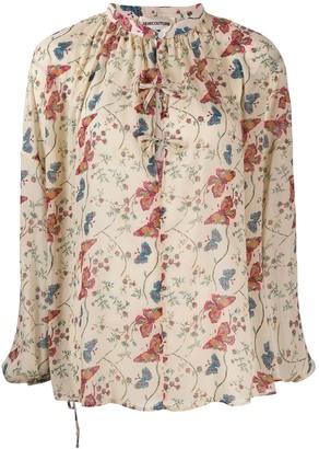 Semi-Couture Semicouture floral-print tie-neck blouse