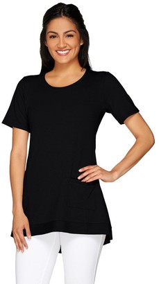 Logo by Lori Goldstein LOGO Lounge by Lori Goldstein French Terry Knit Top with Pocket