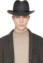 Robert Geller Grey Julius Fedora Hat