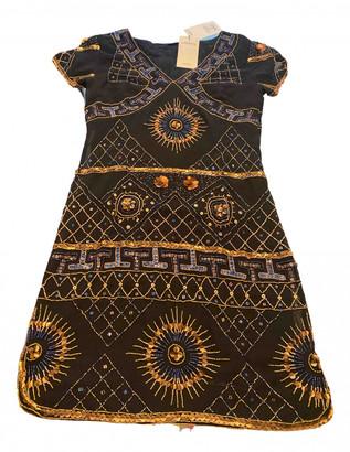 Antik Batik Black Silk Dress for Women