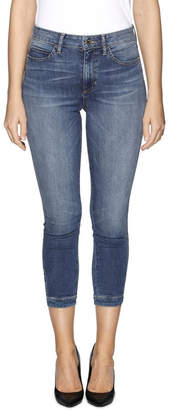 GUESS High Rise Tie Cropped Skinny Jeans