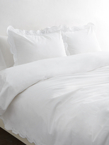 Melange Home Double Scalloped Embroidered Duvet Set