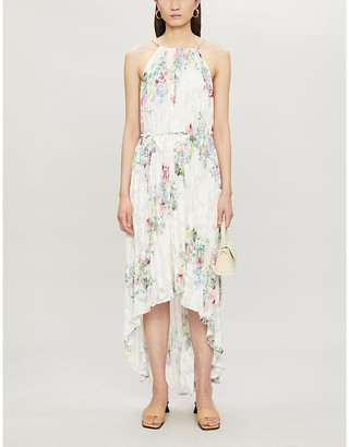 Ted Baker Floral-print pleated crepe midi dress
