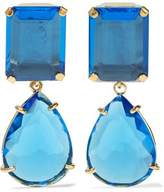 Bounkit Gold-Tone Quartz Earrings
