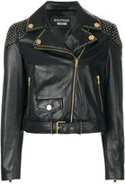 Moschino studded biker jacket - women - Leather/Polyester - 40